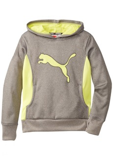 PUMA Big Girls' Cat Hoodie with Thumb Hole Medium Gray Heather Small