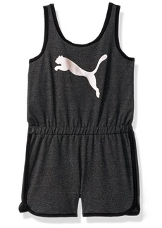 PUMA Big Girls' Cat Logo Romper  Large (12/14)