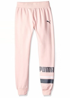 PUMA Big Girls' Fleece Cargo Joggers  XL
