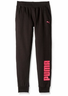 PUMA Big Girls' Fleece Joggers Black XL