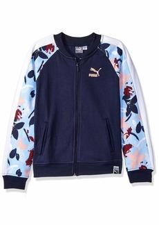 PUMA Big Girls' Fleece Track Jacket  L