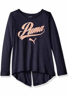 PUMA Big Girls' Folder Back T-Shirt  S