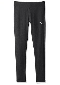 PUMA Big Girls' Heathered Leggings Ebony
