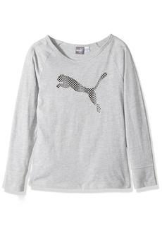 PUMA Big Girls' Long Sleeve T-Shirt and Headband  Small (7)