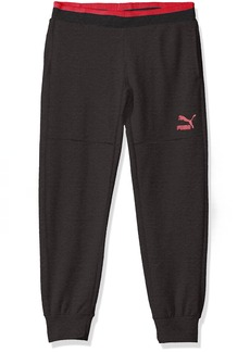 PUMA Big Girls' Melange Jogger Pants  Large (12/14)