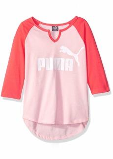 PUMA Big Girls' Raglan T-Shirt  L