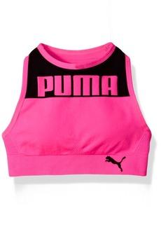 PUMA Big Girls' Seamless Logo Halter Sports Bra