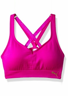 PUMA Big Girls' Seamless Multi-Strap Sports Bra