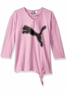 PUMA Big Girls' Side Knot T-Shirt  XL