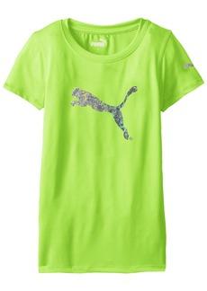 PUMA Big Girls' Short Sleeve Core Tee Shirt  X-Large (16)