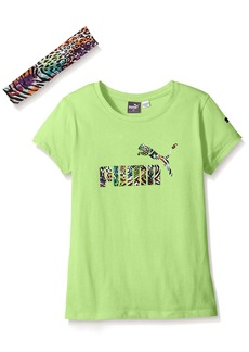 PUMA Big Girls' Tee with Head Band  Small (7)
