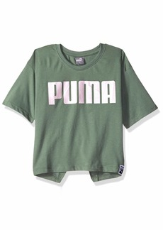 PUMA Big Girls' Tulip Back T-Shirt  S
