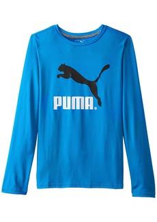 PUMA Boy's 8- No 1 Long Sleeve Logo Tee  X-Large