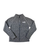 PUMA Boys' Logo Space-Dyed Zip Jacket - Big Kid