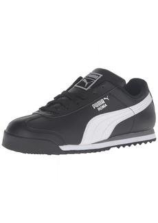PUMA Boys' Roma Basic PS-K Sneaker Black White