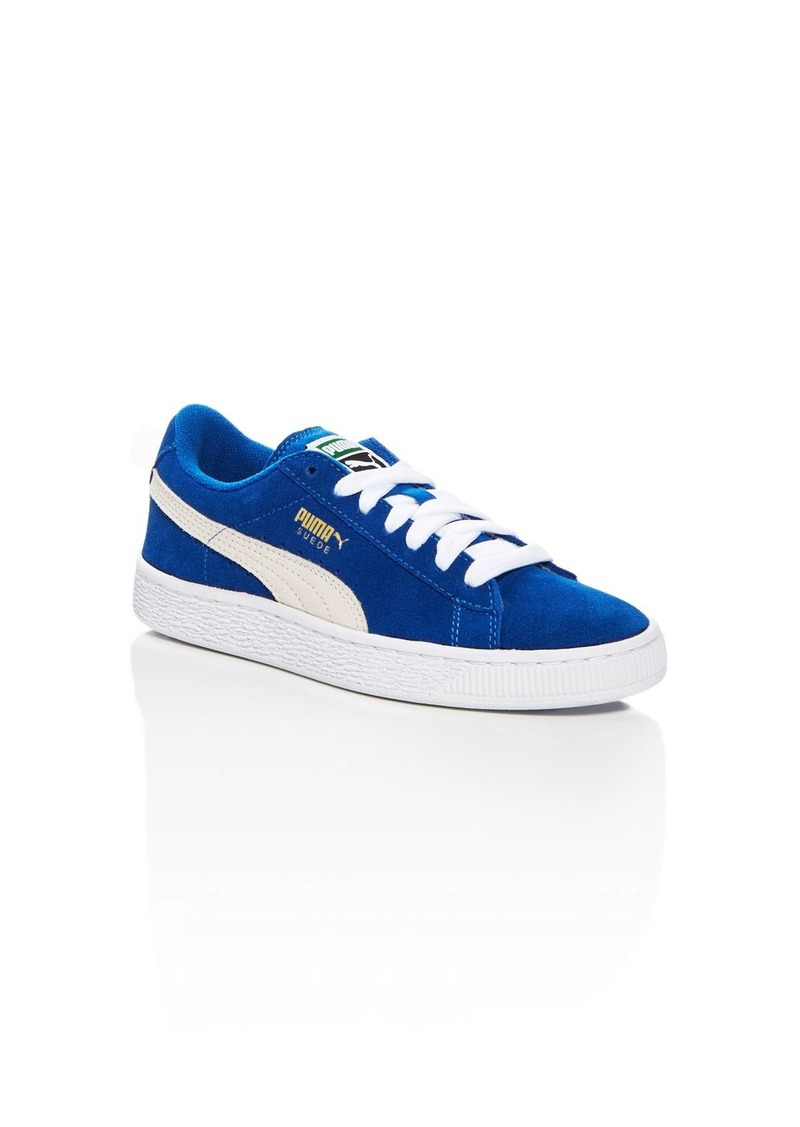PUMA Boys' Suede Junior Lace Up Sneakers - Toddler, Little Kid, Big Kid