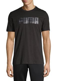 PUMA Camo Foil Logo Graphic Tee