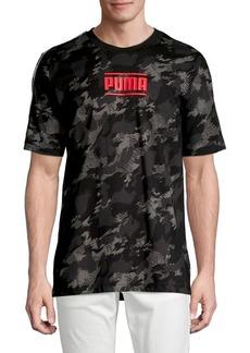 PUMA Camo-Printed Logo Tee