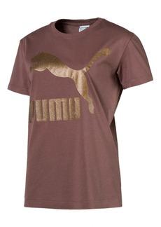 Puma Classics Cotton Metallic-Logo T-Shirt