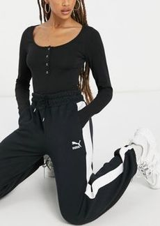 Puma Classics T7 track pants in black