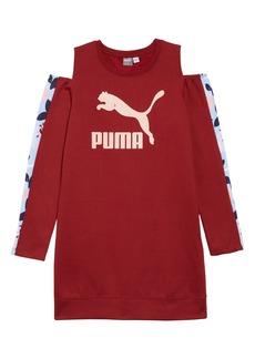 PUMA Cold Shoulder Dress (Big Girls)
