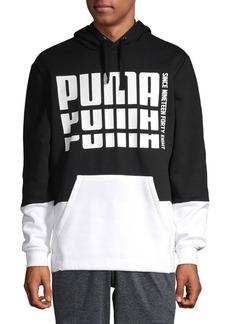 PUMA Colorblock Logo Hoodie