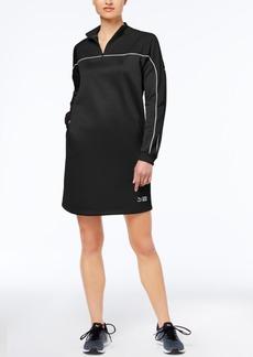 Puma Colorblocked Mock-Neck Quarter-Zip Dress