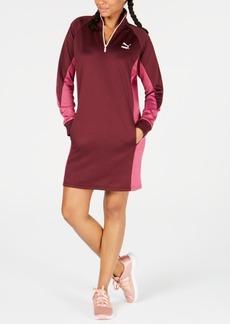 Puma Colorblocked Quarter-Zip Sweatshirt Dress