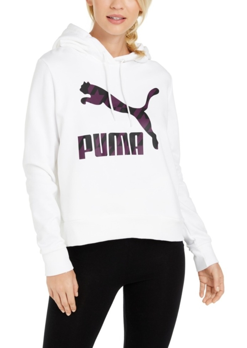 Puma Cotton Floral Colorblocked Hoodie