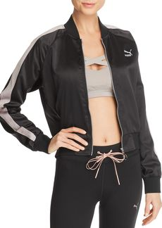 PUMA En Pointe T7 Satin Bomber Jacket
