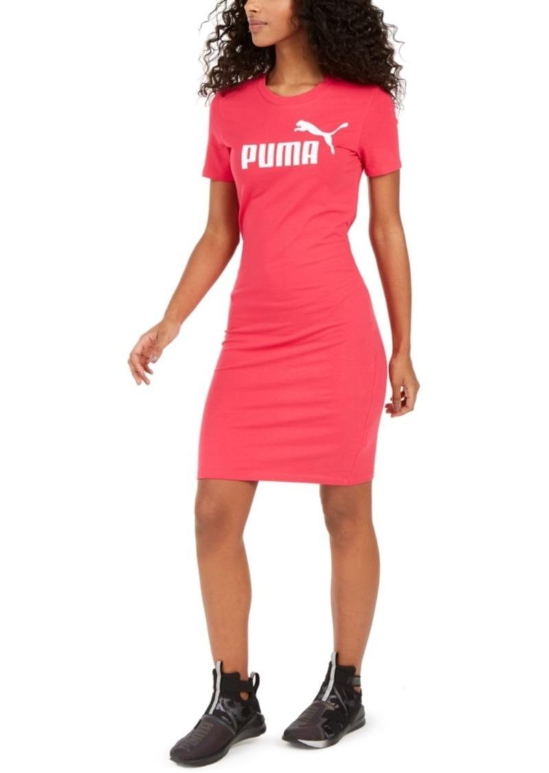 Puma Ess Logo Fitted T-Shirt Dress
