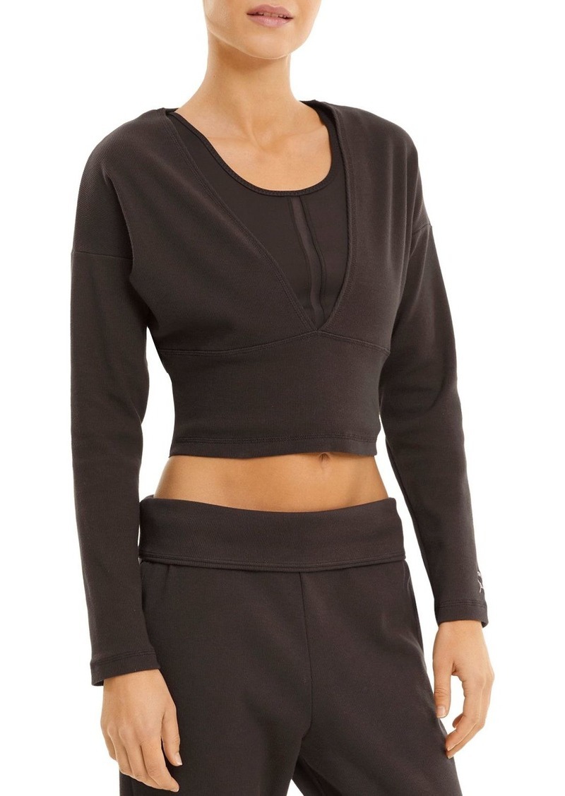 PUMA Exhale Rib Knit V Front Top