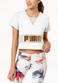 Puma Exposed Metallic Logo T-Shirt