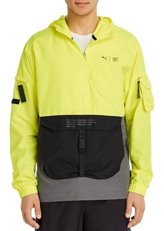 PUMA First Mile Color-Blocked Hooded Regular Fit Utility Jacket