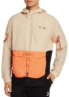PUMA First Mile Color-Blocked Regular Fit Hooded Utility Jacket
