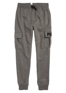 PUMA Fleece Cargo Jogger Pants (Big Boys)