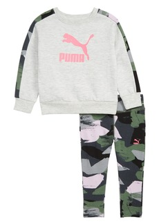 PUMA Fleece Crewneck Sweatshirt & Leggings Set (Baby Girls)