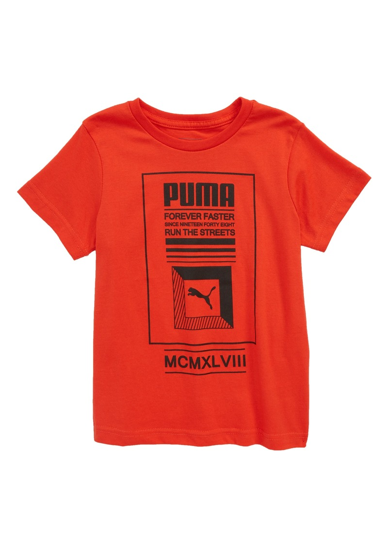 3ebc2bf474a Puma PUMA Forever Faster Screenprint T-Shirt (Big Boys) | Tshirts