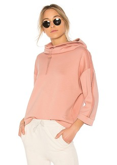 Puma Funnel Neck Hoodie in Taupe. - size L (also in XS,S,M)