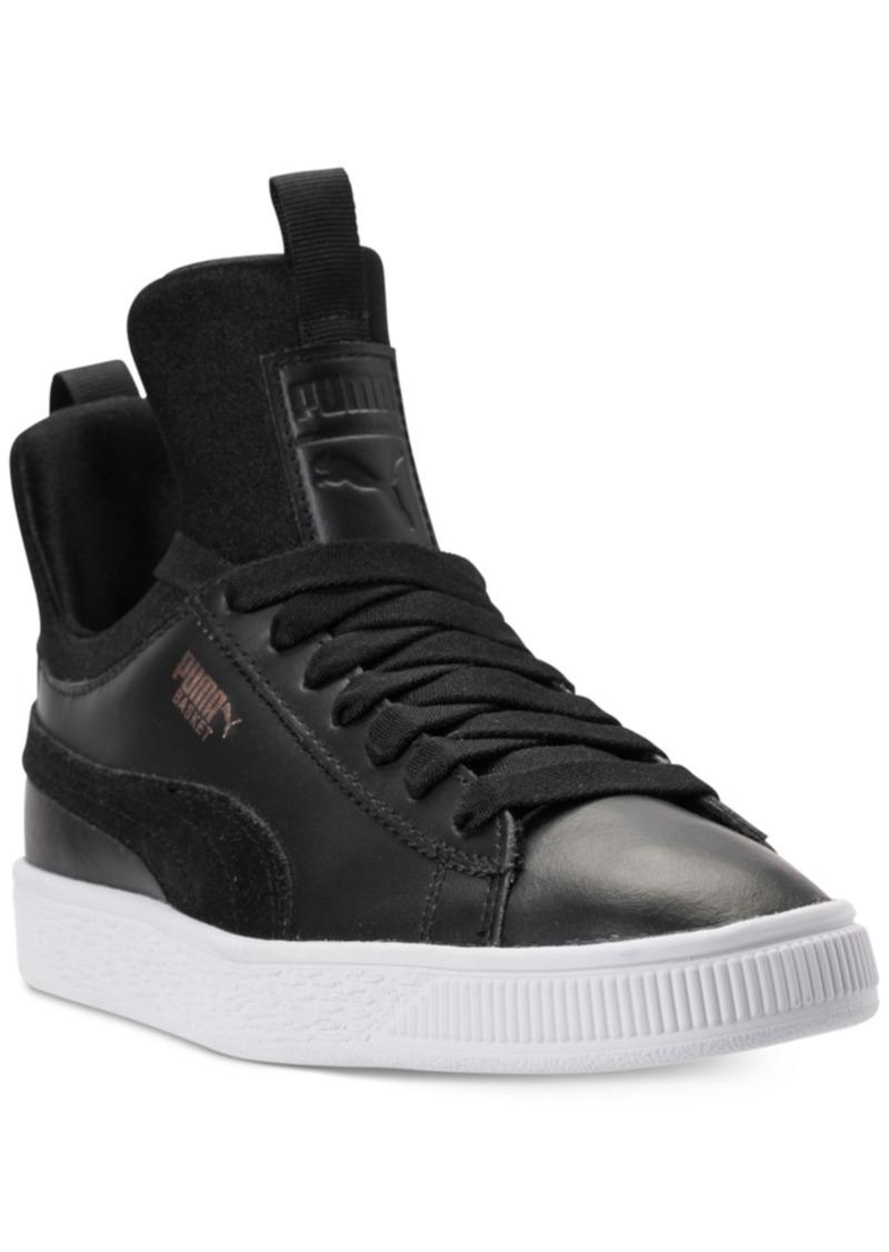 877fa8aacdf0 Big Girls' Basket Fierce High Top Casual Sneakers from Finish Line. Puma