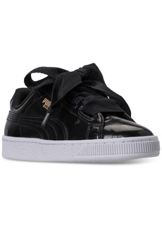 Puma Big Girls' Basket Heart Glam Casual Sneakers from Finish Line