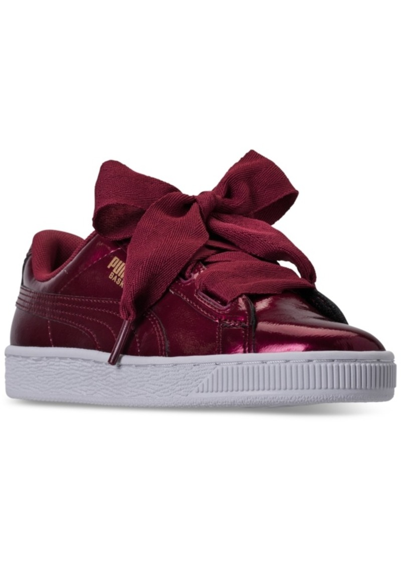 4576739a906 Puma Puma Big Girls  Basket Heart Glam Casual Sneakers from Finish ...