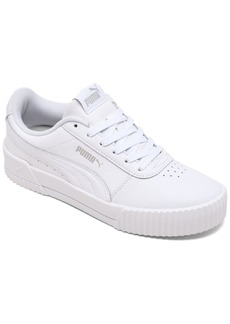 Puma Girls Carina Leather Casual Low-Top Sneakers from Finish Line