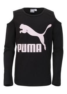 PUMA Girl's Cold-Shoulder Top