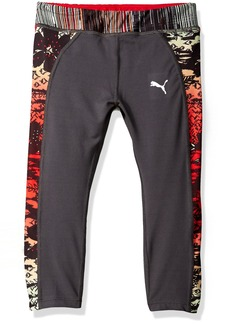 PUMA Girls' Little Capri with Printed Pipings
