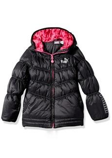 PUMA Little Girls' Quilted Puffer Jacket  6X