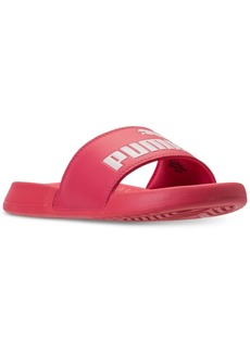 Puma Big Girls' Popcat Slide Sandals from Finish Line