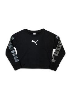 PUMA Girl's Printed Terry Sweatshirt