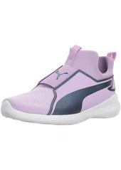 PUMA Girls' Rebel Mid Gleam Sneaker Purple Rose-Sargasso sea