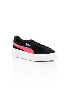 Puma Girls' Suede Platform Sneakers - Toddler, Little Kid